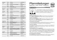 Pfarrmitteilungen 3. Fastensonntag 2013 - Katholische ...