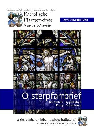 Osterpfarrbrief - Katholische Pfarrgemeinde St. Martin Nottuln