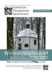 Pfarrbrief - Katholische Pfarrgemeinde St. Martin Nottuln