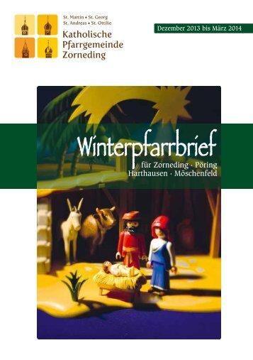 Winterpfarrbrief - St. Martin Zorneding