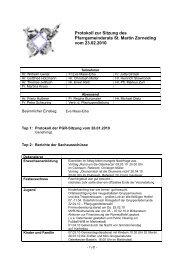 Protokoll zur konstitiuierenden Sitzung des Pfarrgemeinderats St