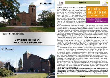 Gemeinde (er) leben! - St. Martinus Moers