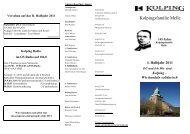 Kolping Programm 2011 1.HJ - St. Matthäus Melle