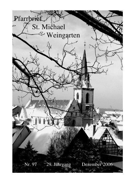 Pfarrbrief Nr. 97 - St. Michael Weingarten