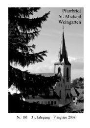Pfarrbrief Nr. 101 - Pfingsten 2008 - St. Michael Weingarten