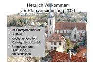 Ihr Pfarrgemeinderat Ausblick Kirchenrenovation Vortrag Herr ...