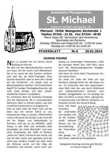 Pfarrblatt downloaden - St. Michael Weingarten