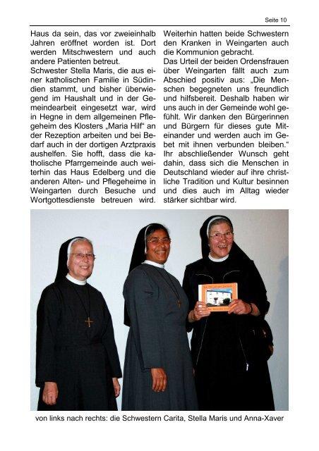 Sonderpfarrbrief zur Verabschiedung unserer Schwestern/Oktober ...