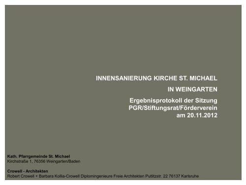in dieser Präsentation (PDF). - St. Michael Weingarten
