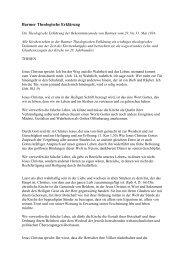 Barmer Theologische Erklärung - St. Michaelis