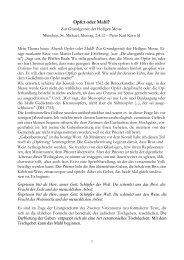 nachlesen - Jesuiten St. Michael