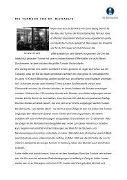 Geschichte der Turmuhr von St. Michaelis