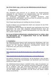 Handreichung zur Installation und Konfiguration des Print-Clients.