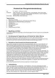 Protokoll der Pfarrgemeinderatssitzung - St. Otto Lauf