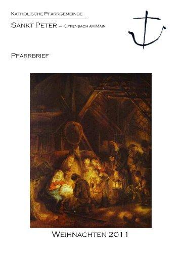 Pfarrbrief Weihnachtszeit 2011 - Katholische Pfarrgemeinde Sankt ...