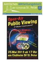 Public Viewing - St. Peter