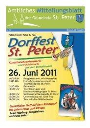 Nr. 25 Mittwoch, 22. Juni 2011 - St. Peter