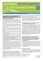 Nr. 8 Donnerstag, 21. Februar 2013 Kommunaler Info ... - St. Peter