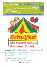 • 14.00 Uhr: Eröffnung (Halle) mit Zirkusvorstellung der ... - St. Peter