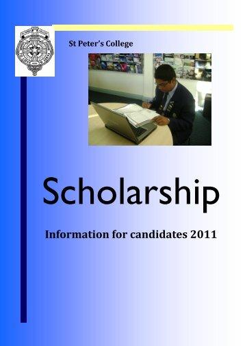 Schol-Info-(2). - St Peter's College