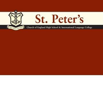ST.P Folder - St Peter's Academy