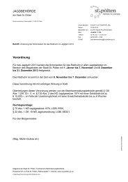 Änderung der Schonzeiten für das Rebhuhn im Jagdjahr ... - St. Pölten