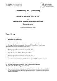 Tagesordnung vom 27.05.2013 - St. Pölten