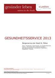 Gesundheitsservice 2013 - St. Pölten