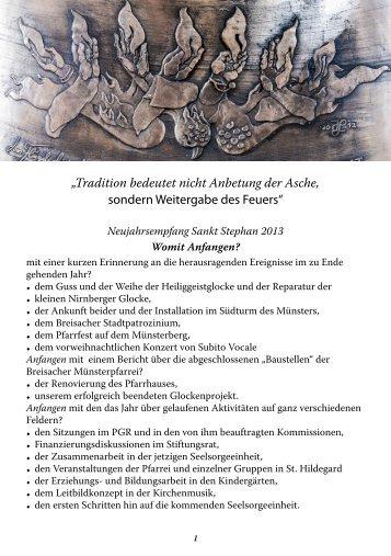 Worte zu Neujahr 2013 Martin Hau hier herunterladen - St. Stephan ...