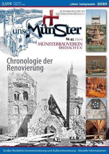Chronologie der Renovierung - St. Stephan Breisach