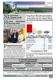 Folge 4/2010 - St. Thomas am Blasenstein