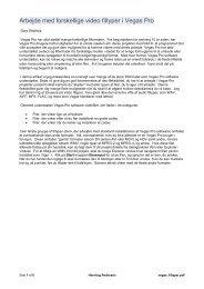 Arbejde med flere filtyper.pdf - Hennings sider om videoredigering