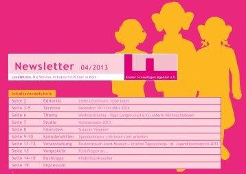1 Newsletter 04/2013 - Kölner Freiwilligen Agentur