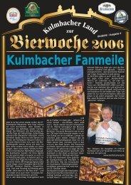 Kulmbacher Fanmeile - Bierfestzeitung