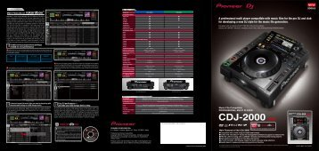 CDJ-2000/900型錄
