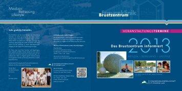 Veranstaltungsprogramm für Patientinnen mit Brustkrebs