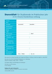 Stammblatt für Studierende im Praktischen Jahr (PDF) - St. Vincenz ...