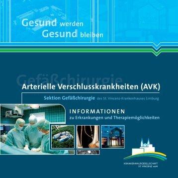 Broschüre Arterielle Verschlusskrankheiten (AVK) - St. Vincenz ...
