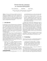 Domain-Specific Languages: An Annotated Bibliography* - UAB ...