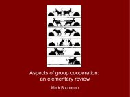 Aspects of group cooperation: an elementary review
