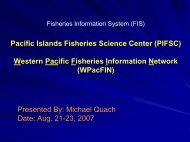 West PacFIN - Office of Science and Technology - NOAA