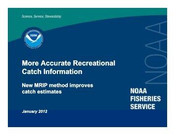 Catch Estimation Presentation - NOAA