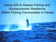 Using GIS to Assess Fishing and Socioeconomic Resilience