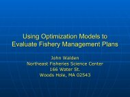 Using Optimization Models to Evaluate Fishery Management Plans