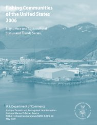 Communities Report - Office of Science and Technology - NOAA
