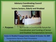 Senior and Disabled Transportation Advisory Council Presentation