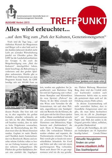 Treffpunkt Ausgabe Herbst 2013 - staaken.info