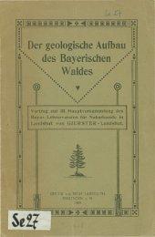 Der geologische Aufbau des Bayerischen Waldes - in der ...