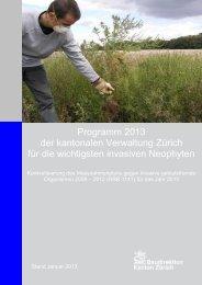 Programm 2012 der kantonalen Verwaltung Zürich für die ...