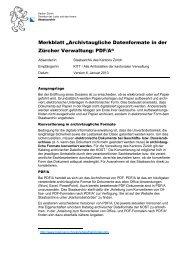 Merkblatt - Staatsarchiv - Kanton Zürich